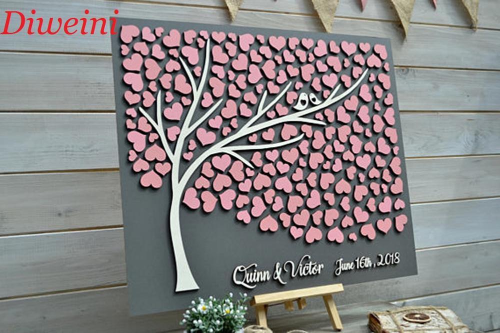 Personalisierte 3D Hochzeit Gästebuch, einzigartige Guestbooks Baum ...