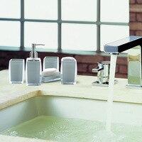 4pcs Accessories Set European Bathroom Sanitary Ware Ceramic Personalized Wedding Gift Painted Home & Garden set Bathroom