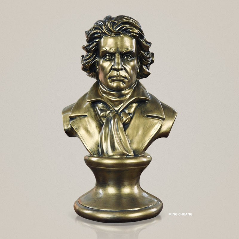 Beethoven The Piani Ludwig Van Composer Statue Musician Bust Head Portrait Conductor Resin Action Figure Collectible Model Toy musician ludwig van beethoven western classical composer chill casting copper head sculpture colophony crafts decoration g1004