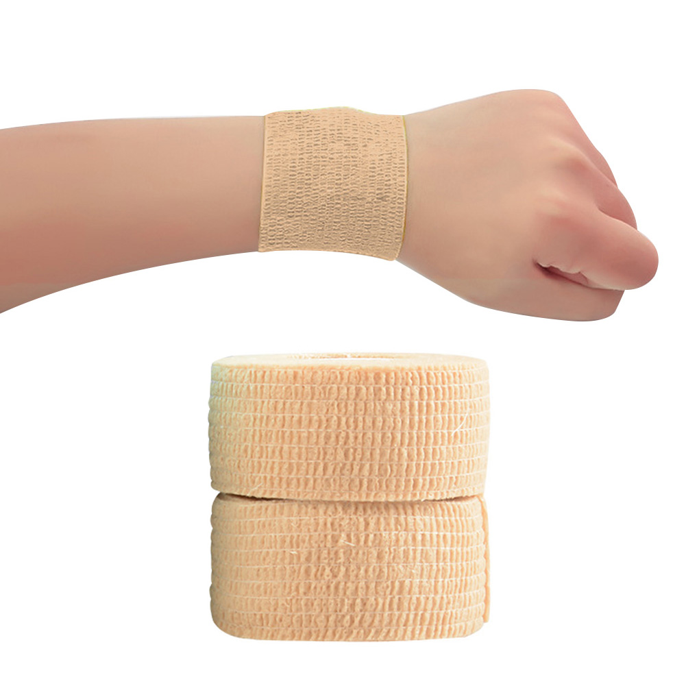 2.5cm X 4m Wrist Strap Elastic Bandage Wrap Strapping Tape Thumb Sports First Aid Finger Stretch Protect Self Adhesive