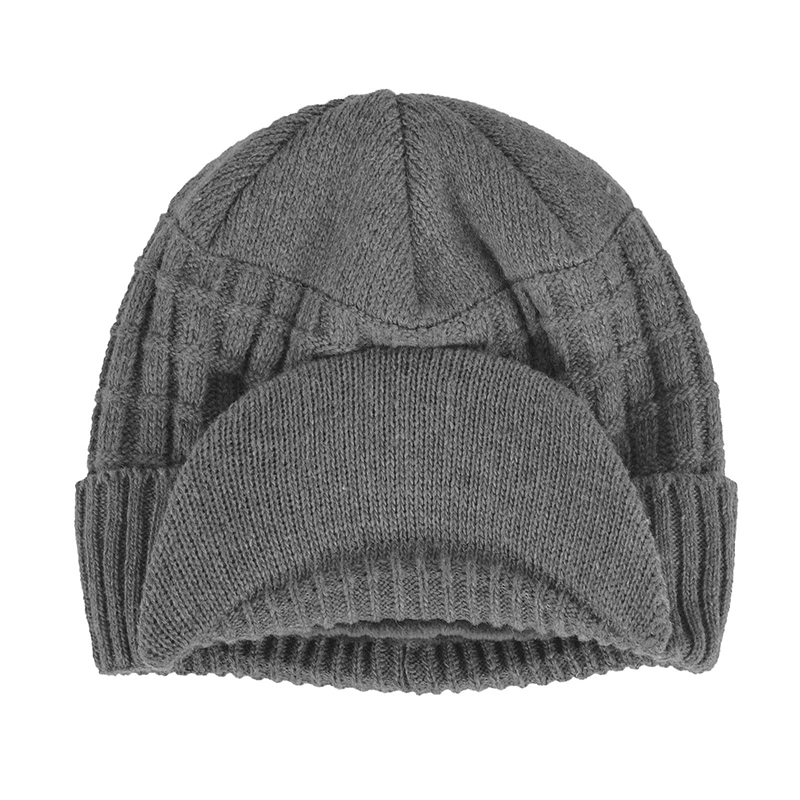 a3041c187b0 2018 Mens Beanie With Visor Winter Hats Skullies Beanies Hat Winter .