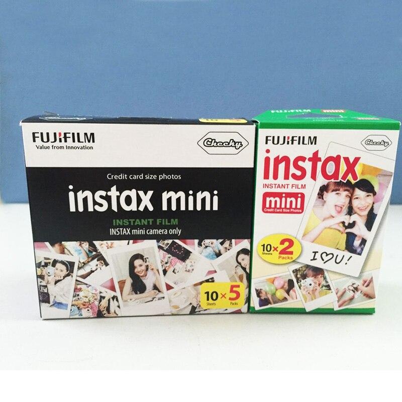 Prix pour D'origine Fuji Fujifilm Instax Mini 8 Film 70 pcs Blanc Bord Photo papiers Pour Polaroid 7 s 8 90 25 55 Part SP-1 Appareil Photo Instantané