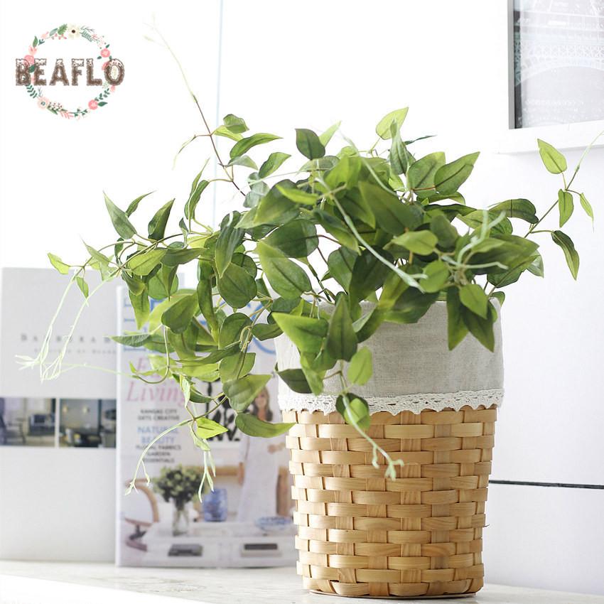 unid planta de seda hojas verdes flores para decoracin de la boda guirnalda diy