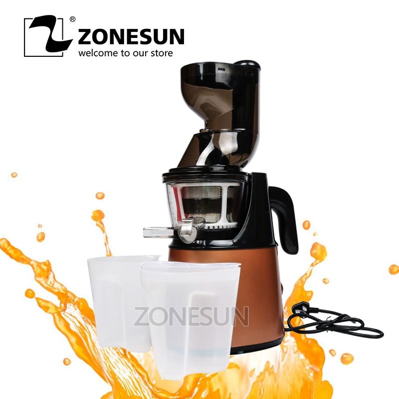 ZONESUN Electric Slow Juicer Household Fresh Fruit Juice Machine/Fruit Vegetable Juice Extractor wjec m2 slow juicer juice machine automatic home fried fruit juice machine soymilk