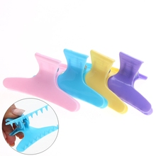4pcs/pack colorful Butterfly Hairdressing Hairdressers Hair Section Clamps Clips Claw Hair Salon Styling Tools Accessories