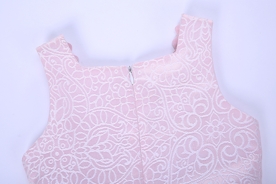 Pettigirl 2018 Summer Pink Flower Girl Dress Boutique Children Clothing Dresses For Girls Party Weddings With Hairbands 1320
