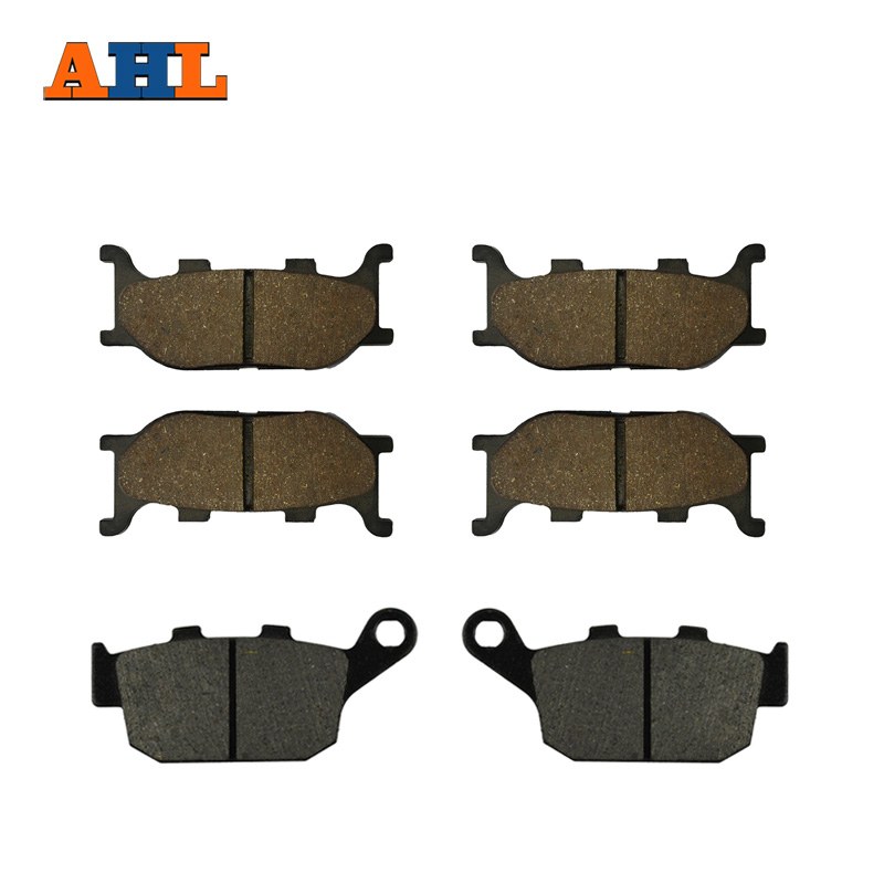 AHL Motorcycle Front and Rear Brake Pads for YAMAHA FZ6R (2 Piston Caliper) 2009-2010 Black Brake Disc Pad motorcycle front and rear brake pads for yamaha fzr 400 a fzr400a 1990 brake disc pad