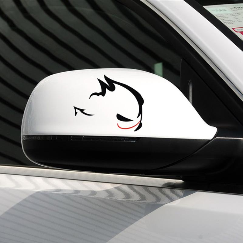 Car rear view mirror decor sticker,Evil Rabbit design car stickers and decals ,car-styling for VW POLO/GOLF and so on