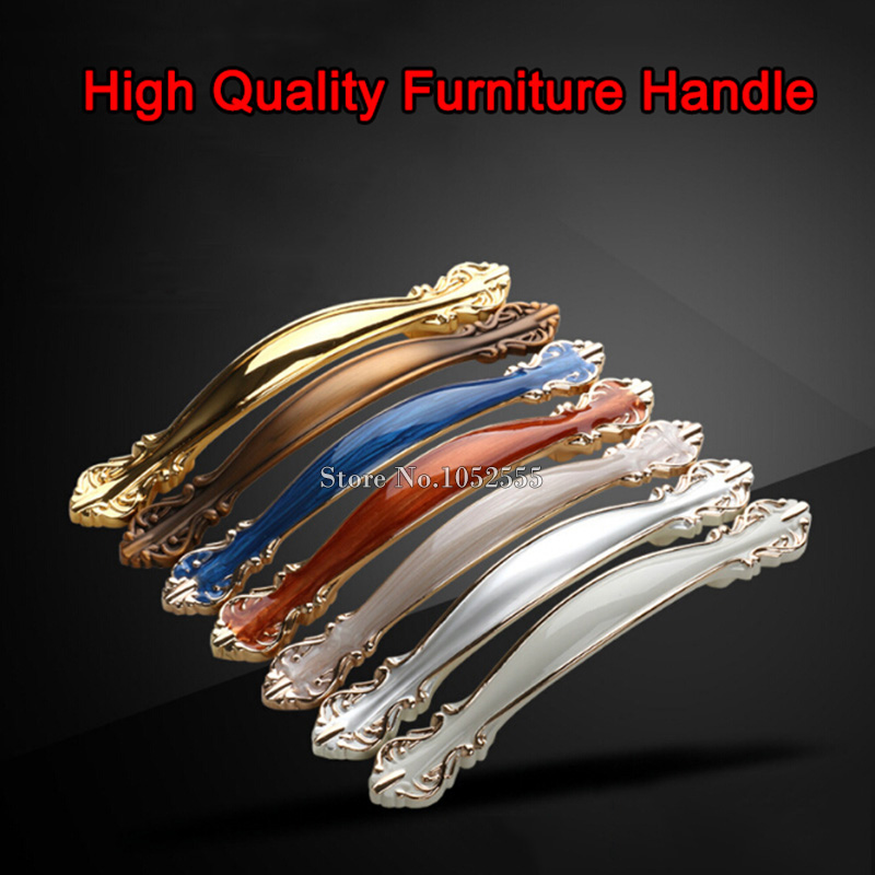 4PCS European Style 64mm 96mm 128mm Metal Pull Handle Knob Drawer Cabinet Cupboard Pull Furniture Hardware Handle Door Pull K321 european bronze birdcage drawer knob pull cupboard door handle wine cabinet shoe wardrobe close handles furniture hardware