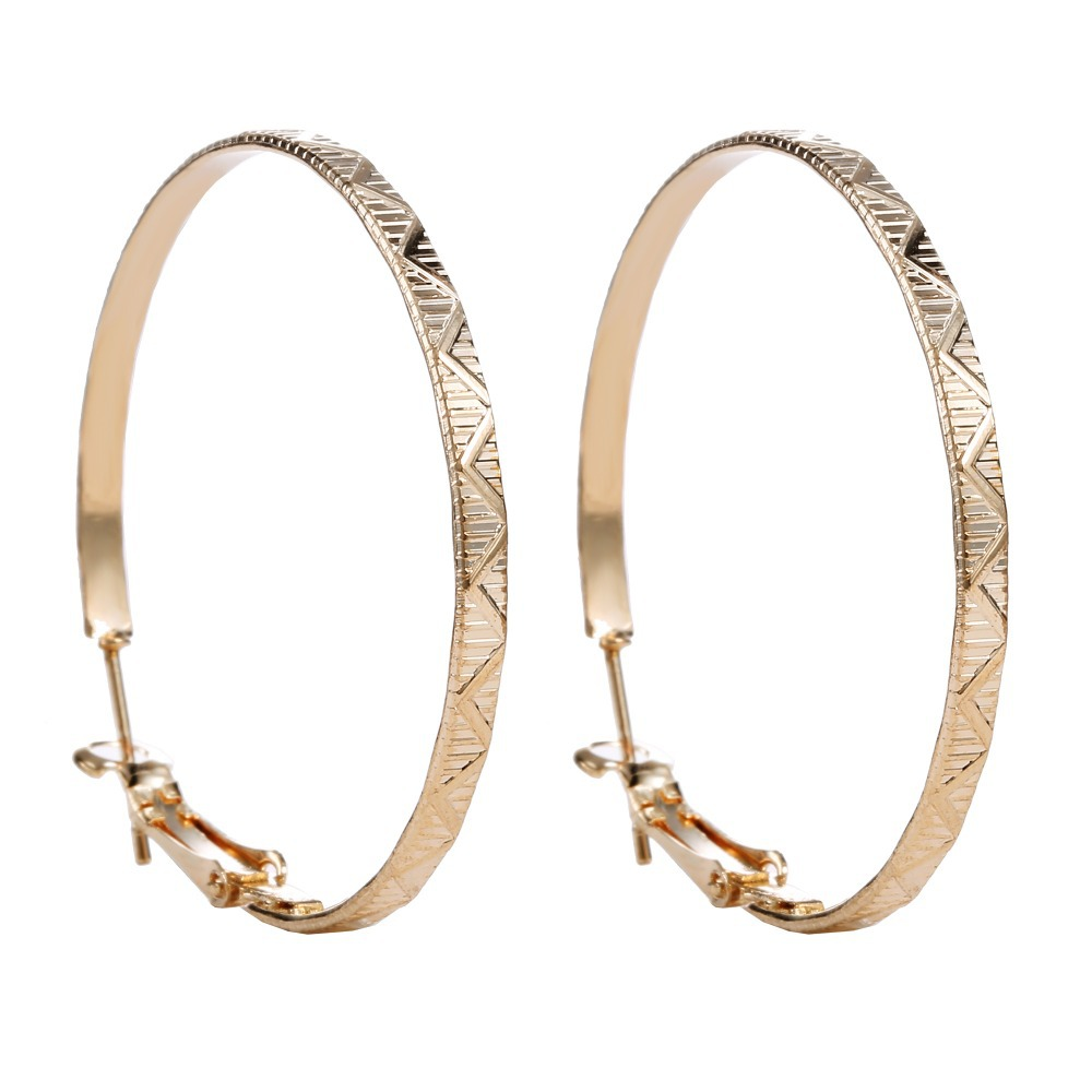 Big Hoop Earrings Fashion Gold Wedding Hoop Earrings For Bridal Cheap large basketball wives Earrings For Women gold color