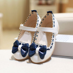 MSMAX Children's Shoes Pu Leather Butterfly-Knot Hook&Loop Girls Dress Party Princess Shoe Kids School Wedding Single Shoes