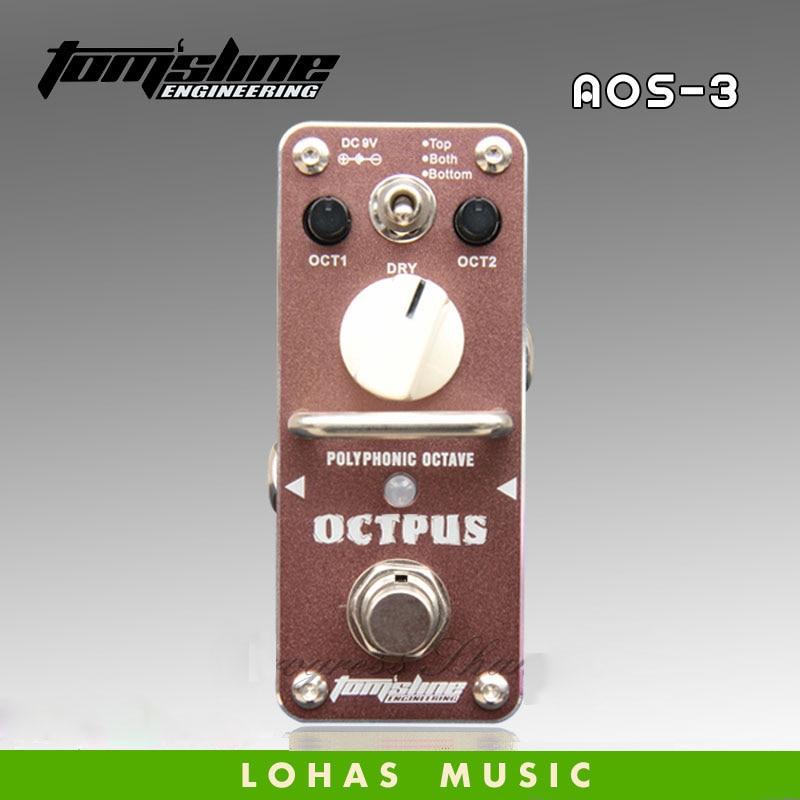 TOM'SLINE AOS-3 OCTPUS Digital Eight tones / Guitar effects pedal мойка воздуха aos w2055a