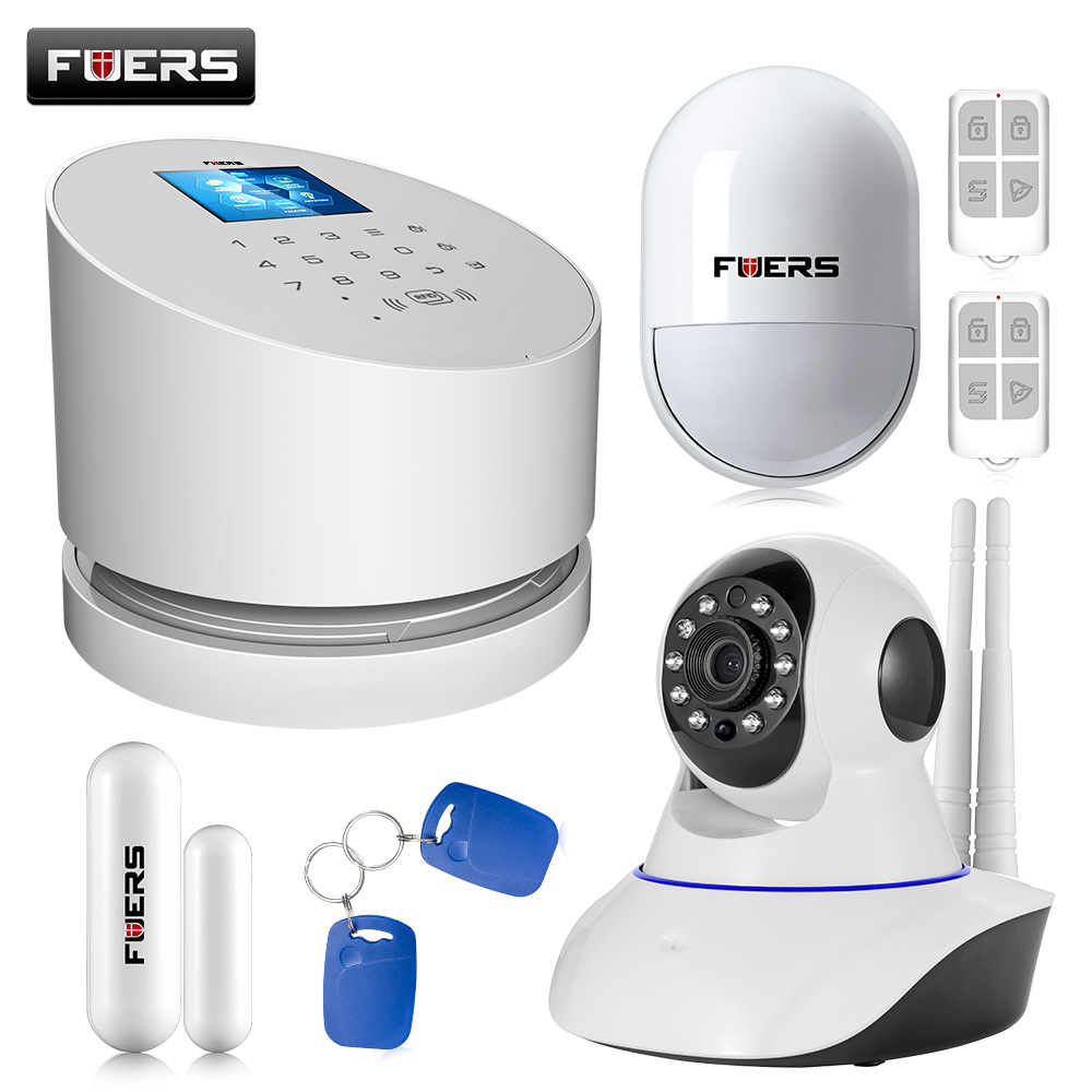 W2  GSM Wifi PSTN Alarm Systems Security Home 433MHz Home Burglar Security Alarm System with IP Camera