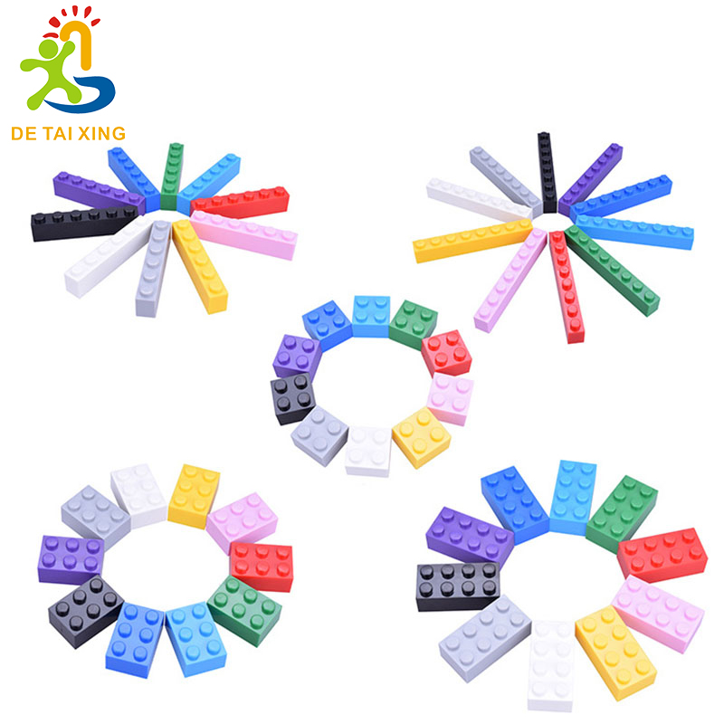10 Color blocks Educational Assembling Toy Plastic Base Building Blocks Bricks For Kids Gifts Learning Toys 500pcs/lot Boxed купить