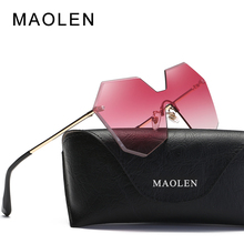 MAOLEN 2017 Ladies Hexagon Sunglasses Women Transparent Pink Blue Sun Glasses Oversized Clear Gradient Sunglass UV400 Oculos