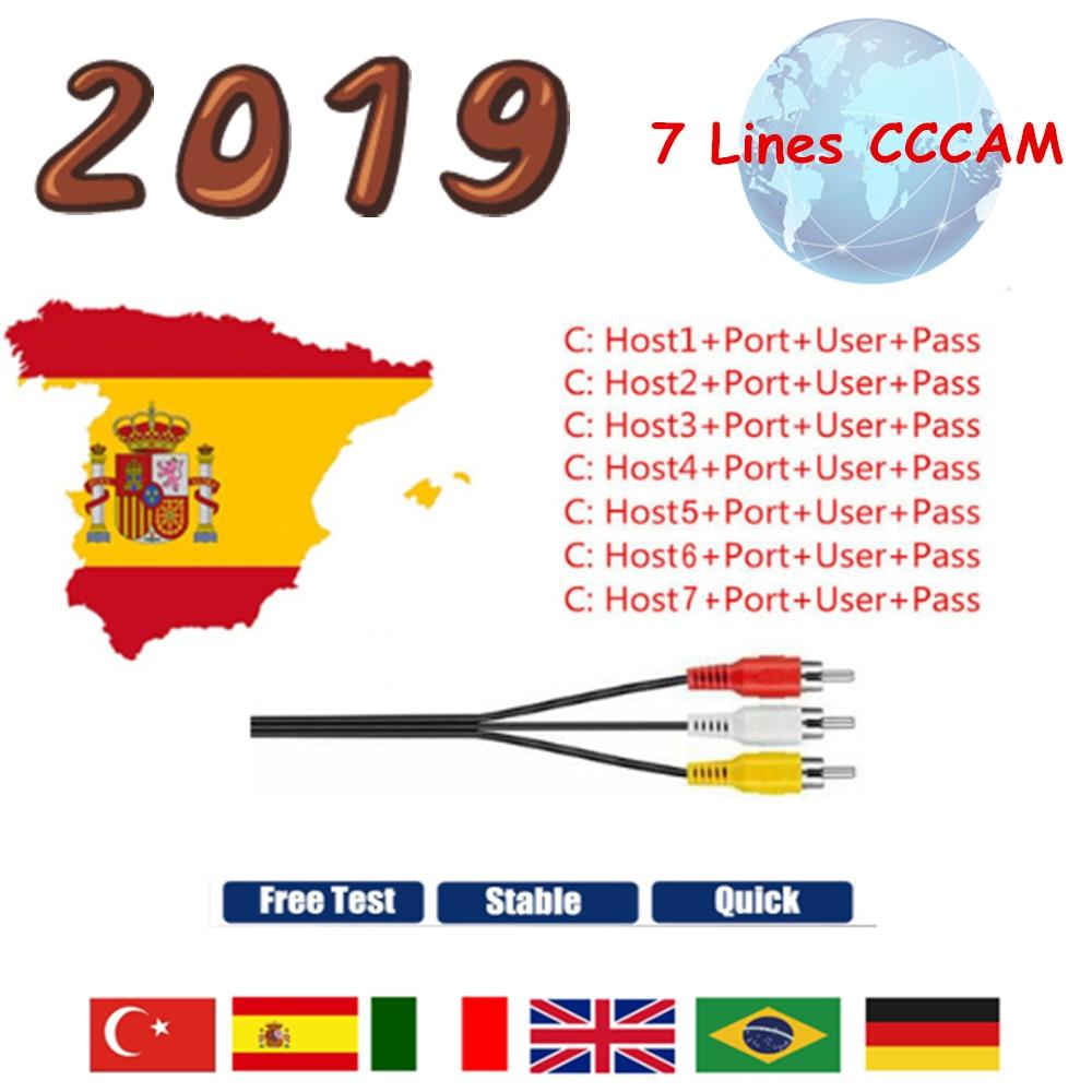 CCCAM 7 Cline 1 Year Europe Server 7 Line HD Italy Spain Arab Germany For DVB S2 Satellite Receiver Freesat V7S V8 Nova V9 Super