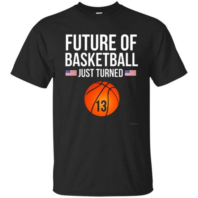 13th Birthday Basketballer T Shirt 13 Year Old Gift