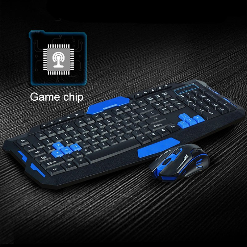 New Comfortable Wireless 2.4Ghz Gaming Keyboard + Mouse Combo Waterproof Optical Multime ...