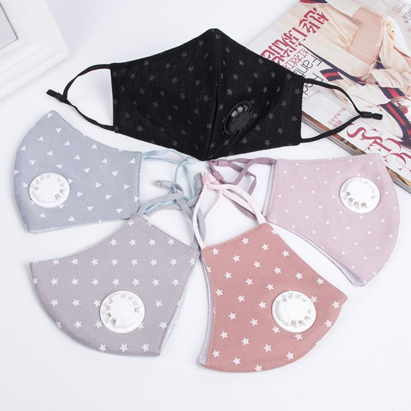 1pcs Women PM2.5 Cotton Winter Mouth Mask Filter Anti Pollution Mouth-Muffle Respirator
