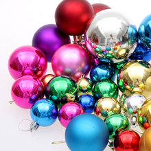 36 PCS/Lot Big Multicolor Christmas Balls Christmas Decorations For Home Pendant Drop Ball 2017 Christmas Tree Ornaments Xmas