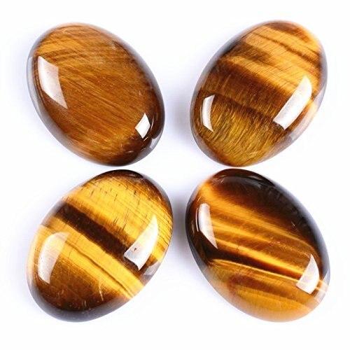 Натуральный камень каменный Агат e Кабошон бусины 22*30 мм плоское дно драгоценный камень каменный Кабошон для изготовления ювелирных изделий 10 шт./партия - Цвет: Tiger eye 10pcs