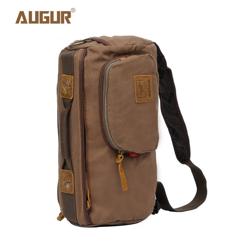 AUGUR Casual Canvas Shoulder Bags Travel Crossbody Bag Men Chest Pack Bag For Men Male Travel Crossbody Bag Men augur new men crossbody bag male vintage canvas men s shoulder bag military style high quality messenger bag casual travelling