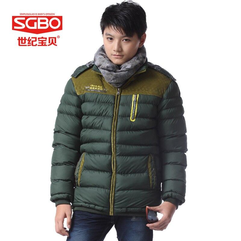 Sgbo moda zima chłopcy kurtka outdoorowa grube pikowane