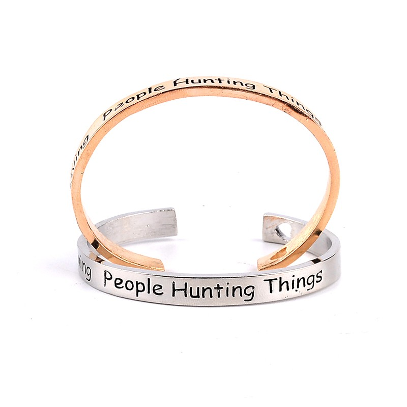 Supernatural Bracelet family business Saving People Hunting Things Open Stacking Bracelets&Bangles free shipping