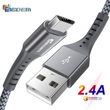 TIEGEM Micro USB Cable 2.4A Fast Charging Data Cable for Xiaomi Redmi Note Huawei HTC Mobile Phone Charger Cable Micro USB Cord