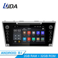 LJDA Android 8.1 2 Din Car Radio For Toyota Camry 2007 2008 2009 Car Multimedia Player Stereo Auto Audio GPS DVD Video WIFI IPS