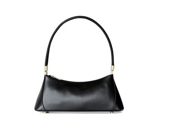 2019 Split leather cow skin women handbag luxury brand half moon solid shoulder bag