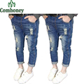 Niñas Pantalones Vaqueros Para Chicas Niños Ripped Jeans Rotos Lápiz Pantalones durante 6 Años de Moda Niños de Mezclilla Ocasional Silm Niñas Primavera ropa