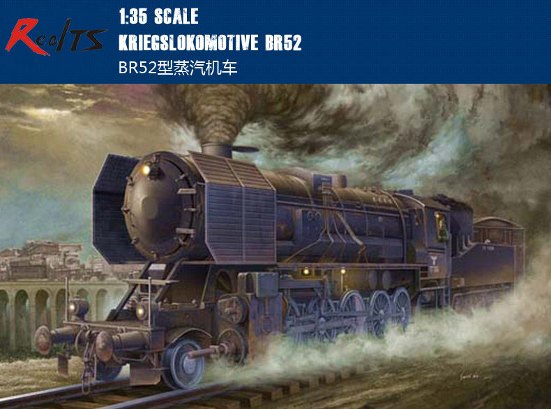 RealTS 1/35 Trumpeter 00210 World War II German Military Model Type Steam Locomotive BR52