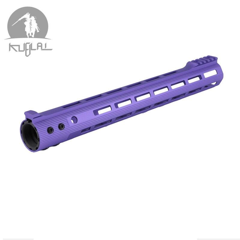 121315Picatinny M lok ALG Handguard Rail Purple Tan Black Ar 15 Handguard Quad Rail for AEG M4 M16 AR15 for Hunting Shooting