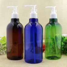 2/10pcs 500ml Lotion Emulsion Shower Gel Shampoo Press Pump PET Bottles with stopper DIY Transparent colorful package container