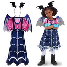 Cosplay Vampire Costume Child Girl Dress Carnival Party Halloween Costumes Perform Childrens Gifts