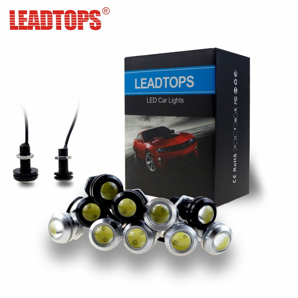 LEAPTOPS LED DRL Car Eagle Eye Daytime Running Lights Source Reversing Parking Signal Lamp Auto Waterproof DayLight 12V AE