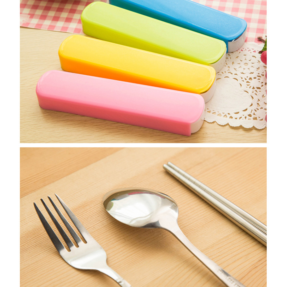 Hot High Quality 1Set Traveling Camping Picnic Dinner Soup Ladle ...