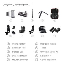 PGYTECH DJI Osmo Pocket Adapter Mount Accessories 10 Types Optional Phone Holder Clip Tripod Extension Rod Storage Bag Case(China)