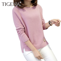 TIGENA Thick Warm Winter Sweater Women 2017 Knitted Pullover Female Jumper Tricot Pullover Women S Winter