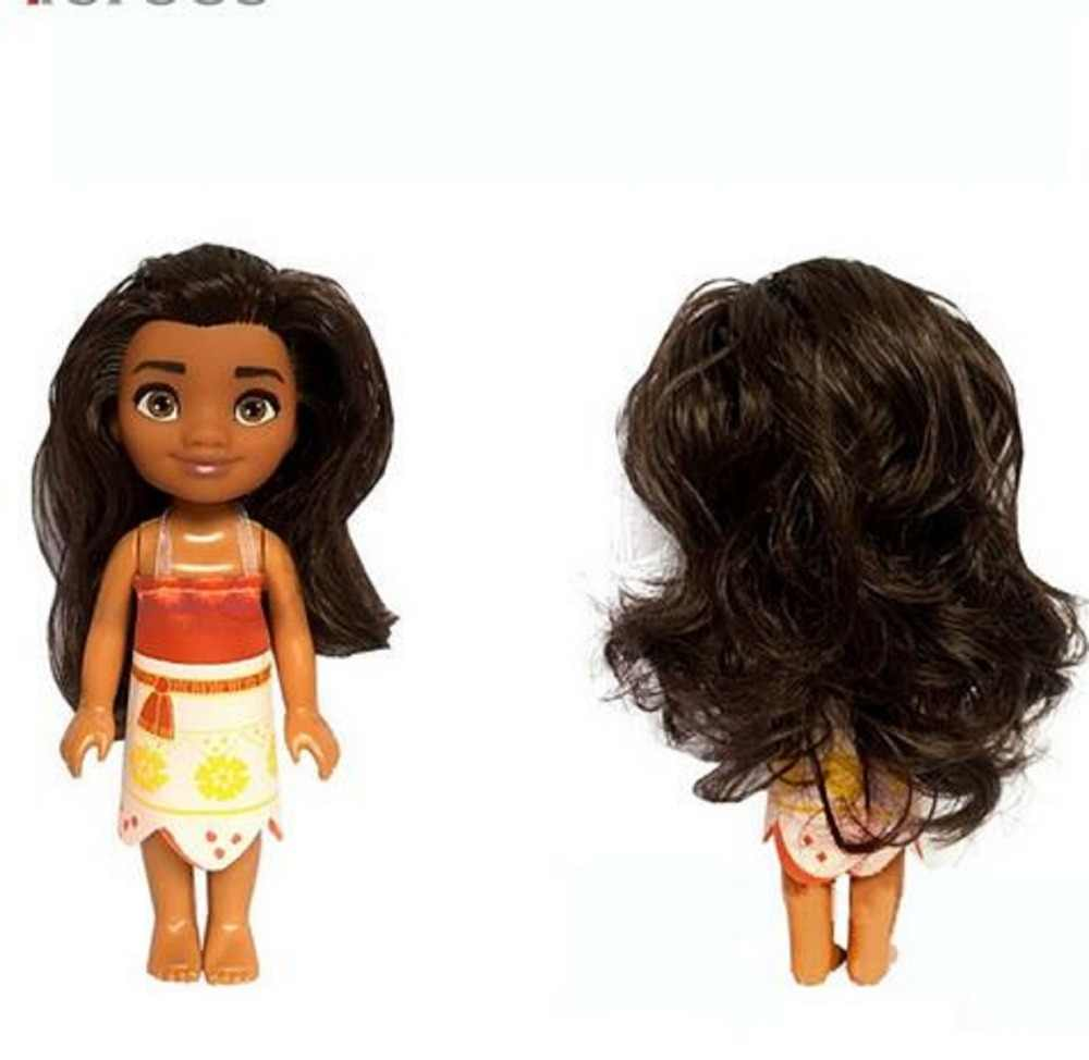 16cm Ocean Romance Moana Princess Action Figure Toy Silicone Doll Gift Decoration