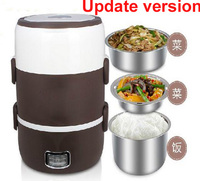3 layer Stainless Steel Bento Electric for Food Warmer roce Box Meal Box Lunchbox 2L