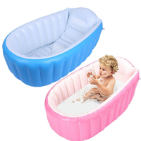 0 3 Years Baby Inflatable Bathtub PVC Thick Portable Bathing Bath Tub for Kid Toddler Newborn