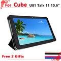 """Высокое качество Оригинала PU Кожаный Case Для Cube Talk11/U81 10.6 """"tablet pc, куб Обсуждение 11 case cover + free 2 подарков"""