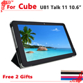 "Alta qualidade original pu leather case para cubo talk11/u81 10.6 ""tablet pc, cubo talk 11 case cover + free 2 presentes"