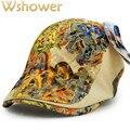 5 colores de moda de verano de las mujeres boinas boinas cap hat floral femenina pico de pato plana hueso golf visera cap señora flor del cordón sombrero vendedor de periódicos