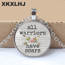 2019 All  Have SCARS CHARM Pendant,Inspirational charm necklace,gift for her,Cancer survivor,Warrior charm,with arrow