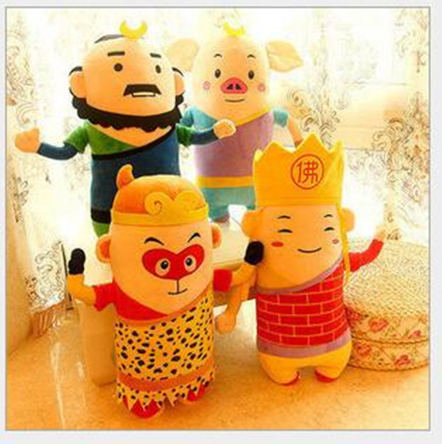 35cm Doll Monkey Journey To The West Children's Cartoon Creative Plush Toys Pig Monkey Doll Return Christmas Gifts Free Shipping