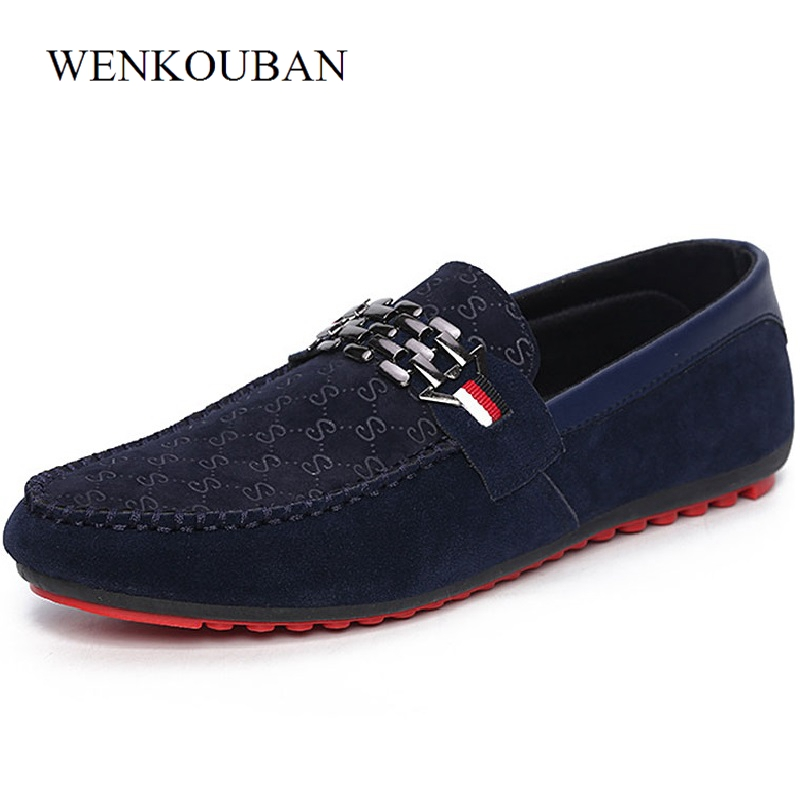 Men Casual Shoes Male Adult Flat Loafers Soft Slip On Driving Moccasins Suede Leather Shoes Erkek Ayakkabi Zapatos de hombre summer men sneakers flat shoes casual loafers black brown moccasins hombre male shoes adult slip on boat shoes zapatos hombre