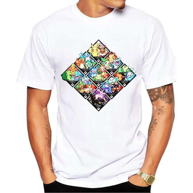 bb050e676 2018 New Arrivals Men Fashion Alola Starter T-shirt Short Sleeve t shirts  Poke-Starters Printed Funny Comics tee tops